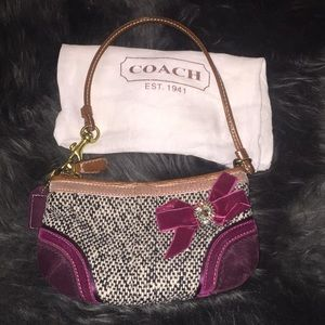 Vintage look Authentic Coach unique wristlet,